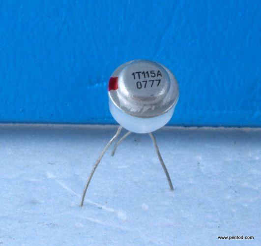 Германиев транзистор 1Т115А NPN 50mW 100mA 20V 1MHz  СССР
