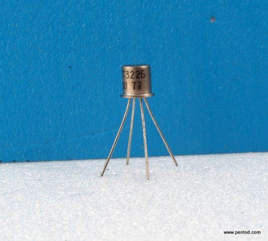 ВЧ германиев транзистор ГТ322Б PNP 50mW 10mA 6V 80MHz СССР