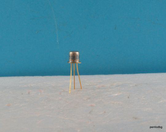 Транзистор BCY91 PNP 0.05A 40V 15MHz  0.35W  позлатени