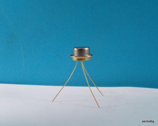 Транзистор 2Т603Г / КТ603Г / NPN 0.3A 3V 200MHz 0.5W СССР позлатен
