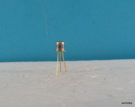 Транзистор 2П103Б / КП103Б / PN 1-2.1mA 10V 0.12W СССР позлатени