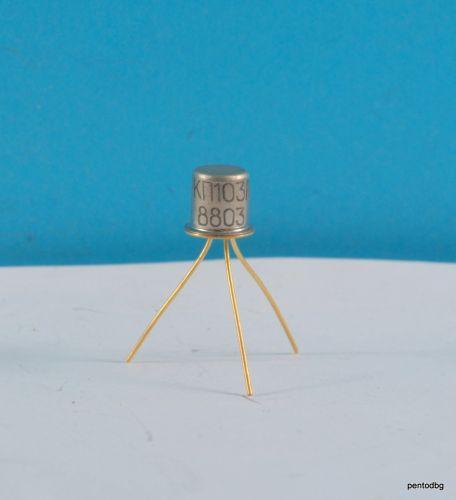 Транзистор 2П103А / КП103А / PN 0.5-1.2mA 10V 0.12W СССР позлатени