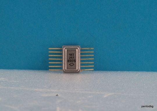Транзисторна сборка 1НТ251 с 4  NPN транзистора СССР