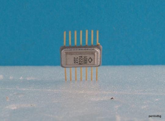 Транзисторна сборка 2ТС622А  с 4 бр. PNP СВЧ транзистора СССР