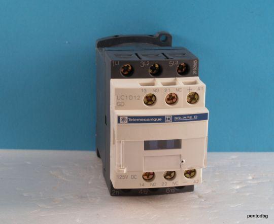 Контактор  LC1D12GD 440V 12A  бобина 125VDC  Telemecanicue