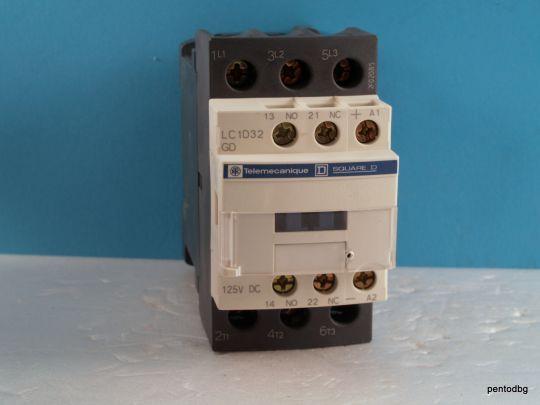 Контактор  LC1D32GD 440V 32A  бобина 125VDC Telemecanicue