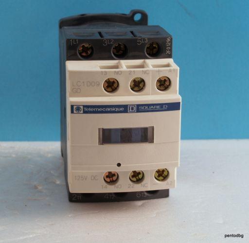 Контактор  LC1D109GD 440V 9A  бобина 125VDC Telemecanicue