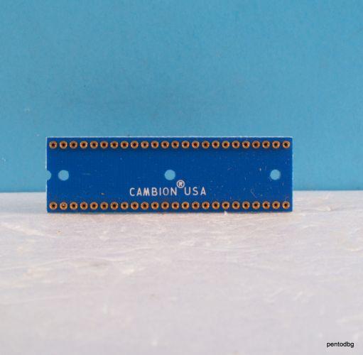 Цокъл за ИС DIP-48 цангов  позлатени Cambion USA