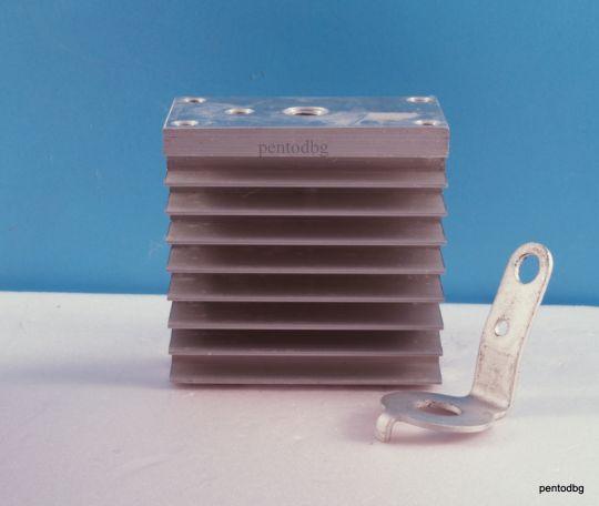 Охлаждащ радиатор за  мощни диоди и тиристори О151-80   50W  635 cm2   СССР