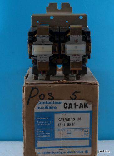 Контактор тригер CA1-AK15 08 бобина 220VAC 500V 10A Telemecanicue