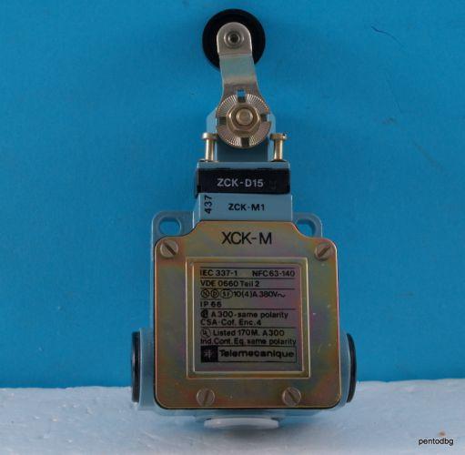 XCKM115  краен изключвател с ролка 380V 10A Telemecanique