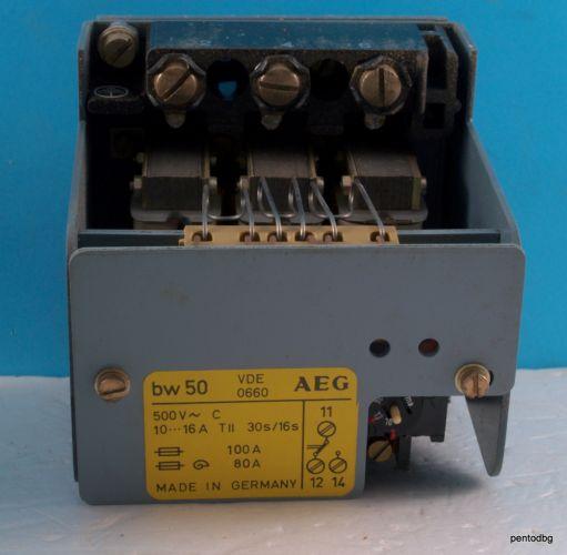 Термична защита bw50 10-16A 500V 30S/16S AEG