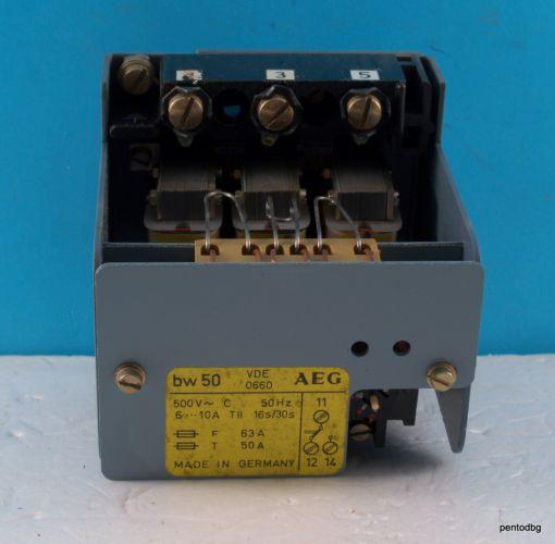 Термична защита bw50 6-10A 500V 30S/16S AEG