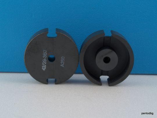 Ферит чашковиден топфкерн  42x29mm /с междина1,5mm/  P42/29-3B7 AL250 Philips