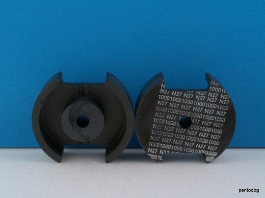 Ферит чашковиден топфкерн 70x42mm /с междина 0.8mm/ N27 AL1000  B65696 Siemens