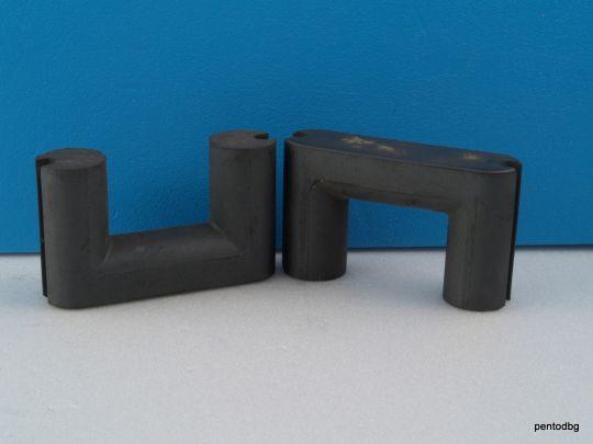 Феритна сърцевина  П/U/- образна 62x36x17mm /62x72x17 mm/ комлект 2 броя