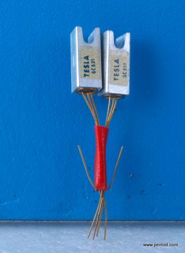 Грманиеви транзистори  GC511/GC521 комплементарна двойка  NPN/PNP  Tesla
