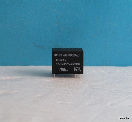 Реле N4100F-2CHSDC24AC  125VAC, 30VDC 1A  бобина 24VDC