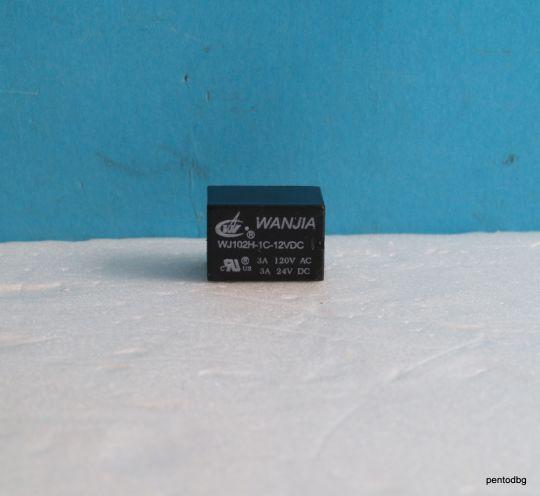 Реле WJ102H11C-12VDC 120VAC, 24VDC 3A  бобина 12VDC  Wanjia
