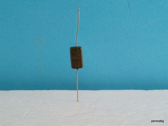 Сребърно слюден аудио кондензатор КСО-1Г 200пФ  250В +/-5% СССР