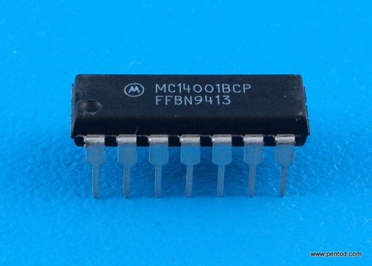 MC14001BCP Quad 2-Input NOR Gate