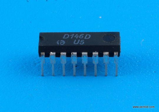 D146D/SN7446/ Двоично-десетичен седемсегментен дешифратор