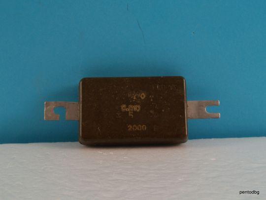 Слюден аудио кондензатор КСО-13А 0.022мкФ 22нФ 250В +/-20% СССР