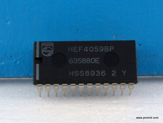 HEF4059BP Програмируем делител Philips