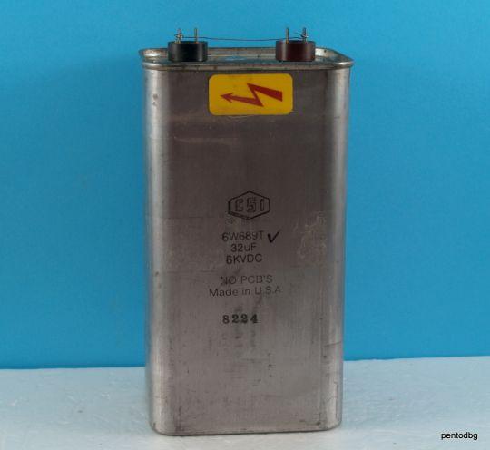 32uF 6KV DC 576J мощен импулсен PIO кондензатор   6W689T  CSI USA