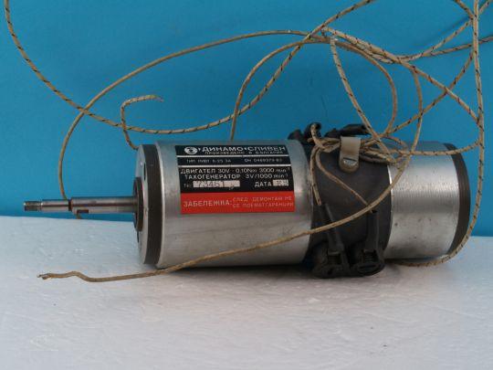 Постоянно токов електродвигател  с тахогенератор   PIVT-6-25/3A/30V/3000rpm