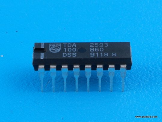TDA2593 Управление на хоризонталното отклонение на цветни телевизори Philips