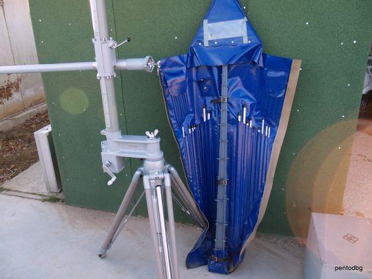 Логопериодична антена 1.3GHz HL023A1 Rohde & Schwarz  с мачта и трипод HFU-Z