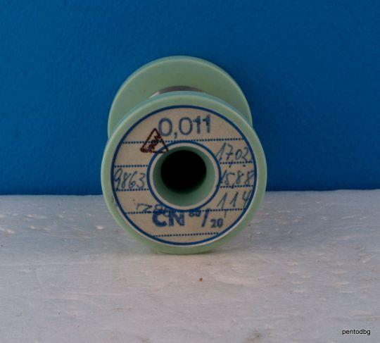 Nichrome wire 0.011mm 57AWG 9863 Ώ/m /3000 Ώ/Ft 1.14gr 1368m /4487ft/