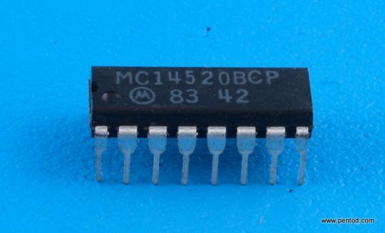 MC14520BCP 2 бинарни брояча Motorola