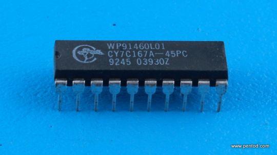 CY7C167A-45PC 16K x 1 Static RAM
