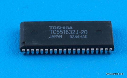 TC551632J-20 32768 Word x 16-Bit CMOS Static RAM