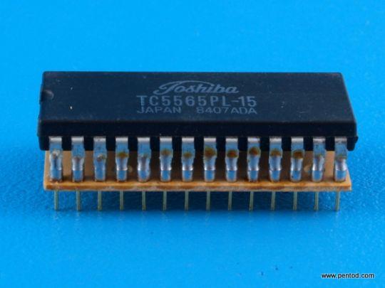 TC5565PL-15 65,536 bit static random access memory CMOS