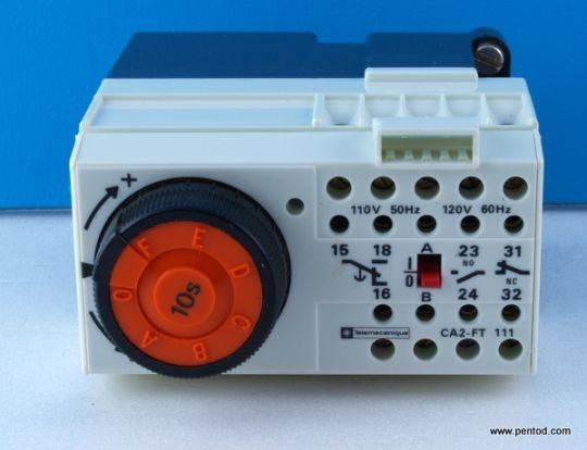 Реле таймер 10s CA2-FT111 бобина 110VAC 500V 10A Telemecanicue