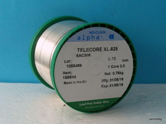 Тинол безоловен със 3% сребро 0.75mm telecore xl-825 SAC305 0,75кг   hi-fi аудио