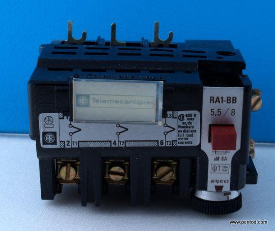 RA1-BB5,5/8 5,5-8A защита от претоварване Telemecanique