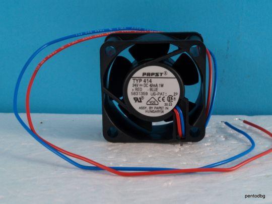Вентилатор  papst typ 414 40x20mm, 24 VDC  6000 оборота  1W
