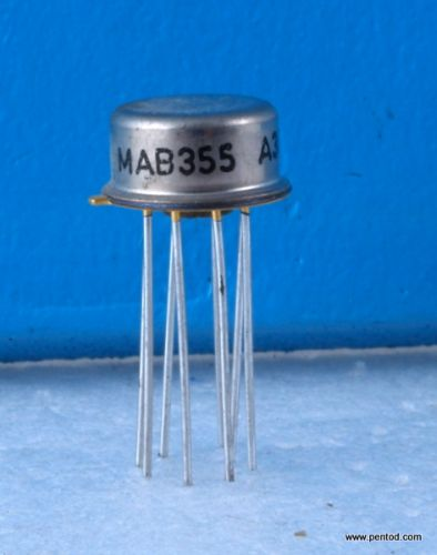 MAB355 Операционен усилвател с полеви транзистор на входа.  С позлатени изводи