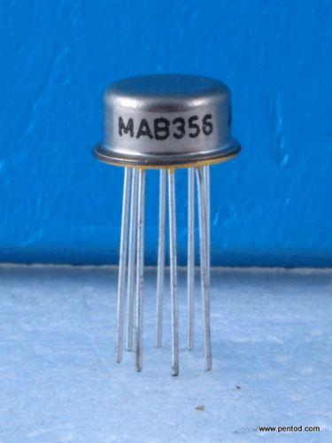 MAB356 Операционен усилвател с полеви транзистор на входа.  С златени изводи
