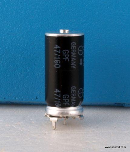 Кондензатор 47uf 160V  B43593-A1476-T  S+M  Siemens