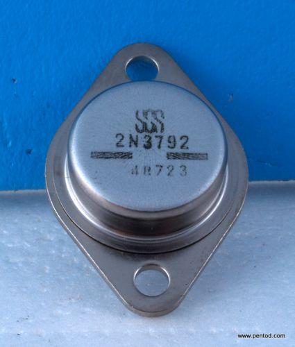 Транзистор 2N3792 PNP 10A 80V 4MHz 150W