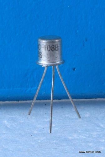 Транзистор BC108B  NPN 0.1A 20V 150MHz 0.3W