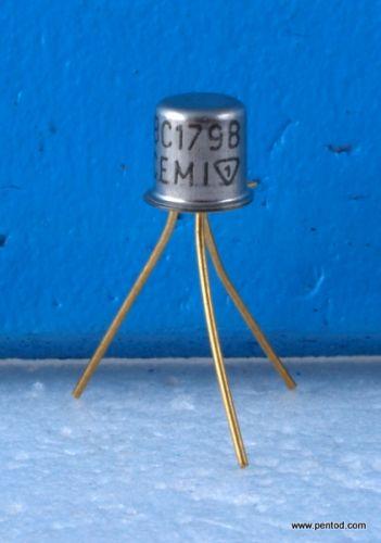 Транзистор BC179B PNP 0.5A 20V 130MHz 0.3W позлатени изводи