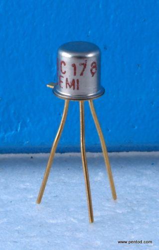Транзистор BC178 PNP 0.2A 25V 200MHz 0.6W позлатени изводи