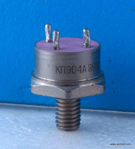 Мощен полеви високочестотен транзистор  КП904А  400 MHz 10A 75W  СССР