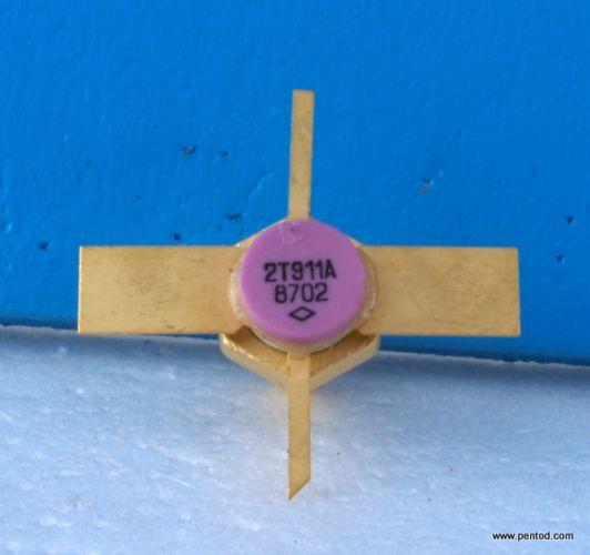 Мощен високочестотен транзистор  2Т911А / КТ911А  / 400-1000 MHz 0,4A 28V  3W   СССР
